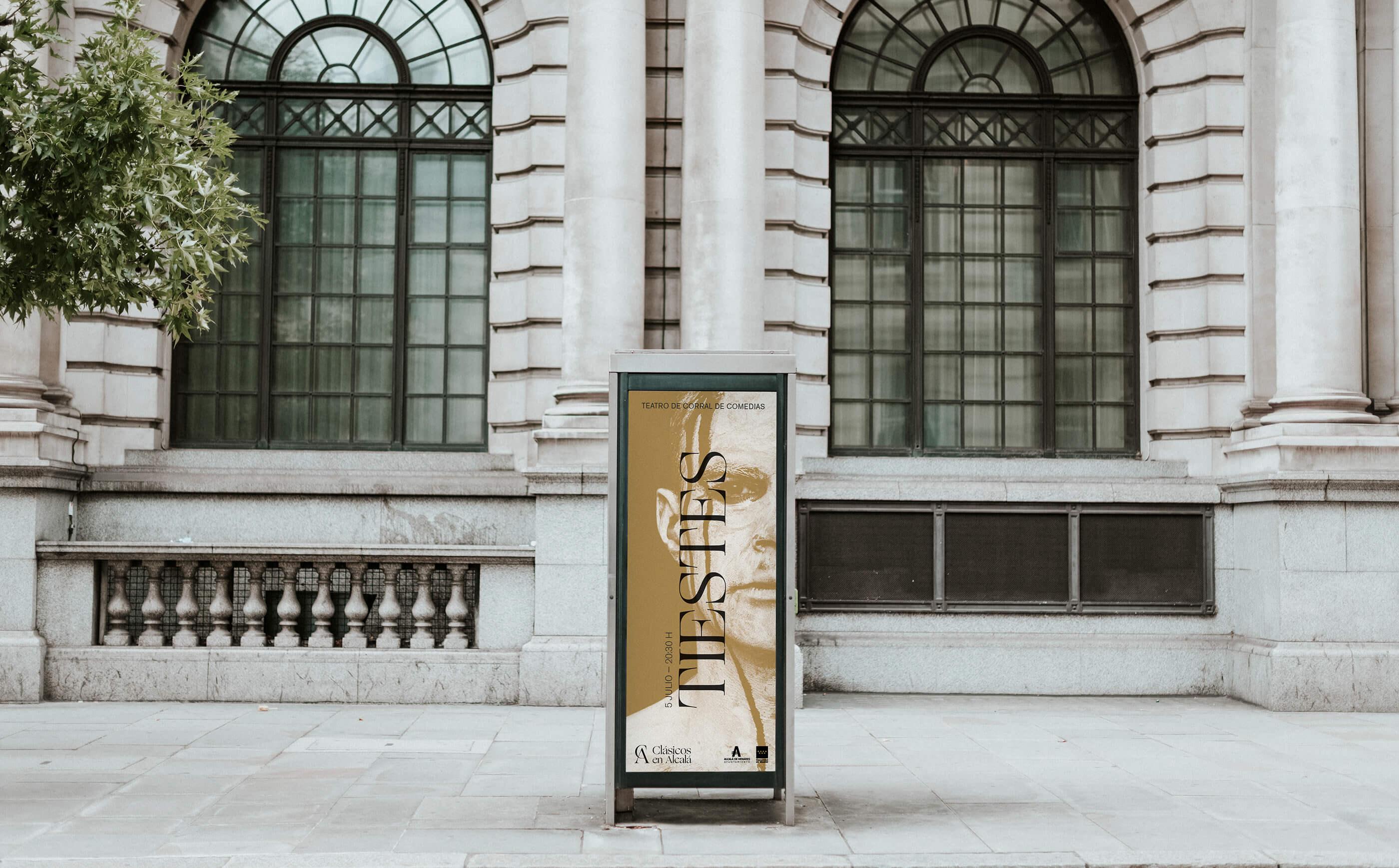 Street framed board design mockup